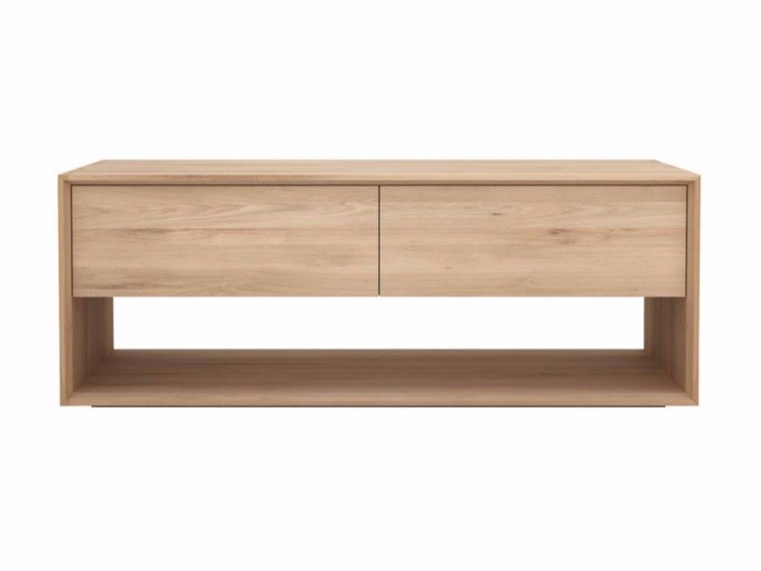 Low solid wood TV cabinet OAK NORDIC | TV cabinet by Ethnicraft
