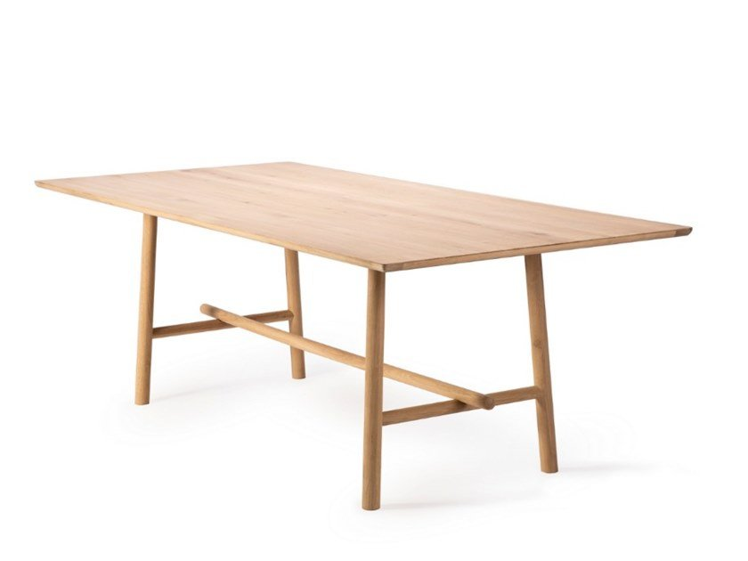 Rectangular oak dining table OAK PROFILE by Ethnicraft
