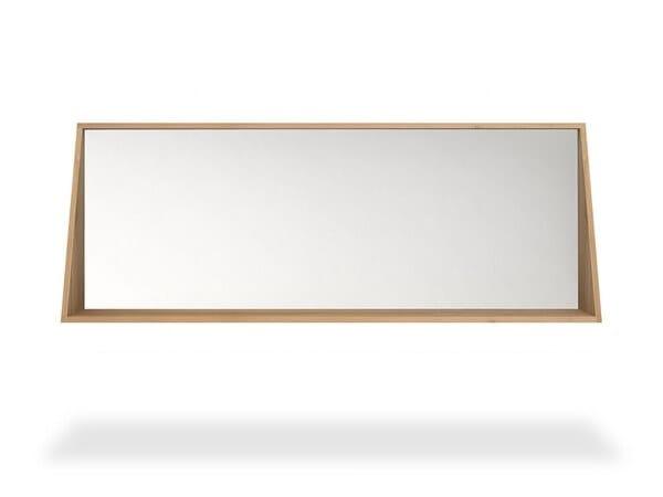 Bathroom Mirror With Shelf Oak, Oak Framed Bathroom Mirror With Shelf