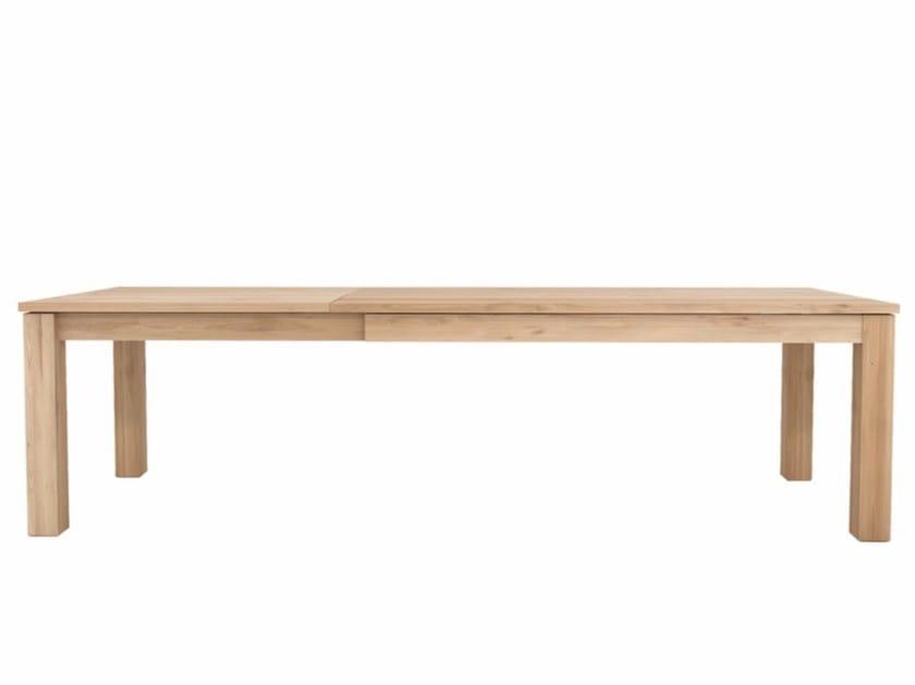 Extending rectangular oak table OAK STRAIGHT | Extending table by Ethnicraft