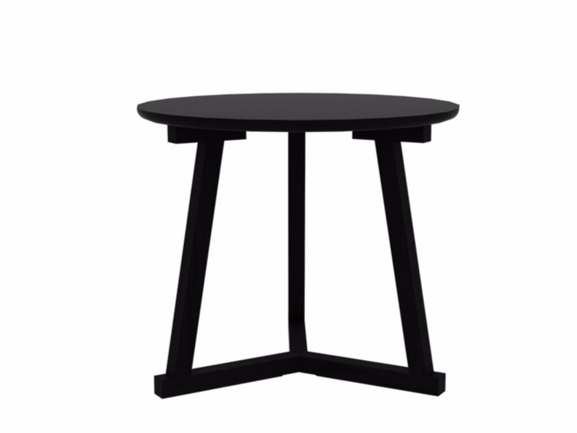 Lacquered round oak side table OAK TRIPOD TABLE   Side table by Ethnicraft