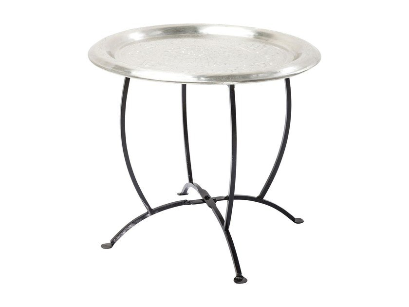Round aluminium tray OASIS SILVER by KARE-DESIGN