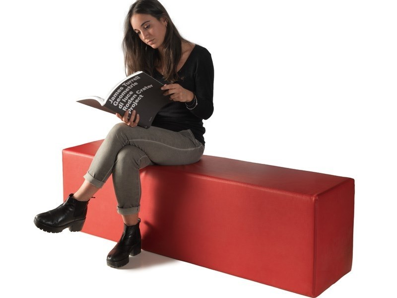 Upholstered imitation leather bench OBELISCUS by Lago