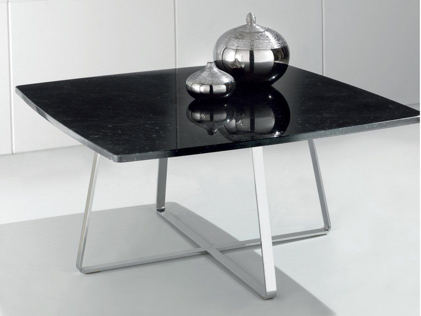 Square Nero Marquina marble coffee table DIGO by International Marmi