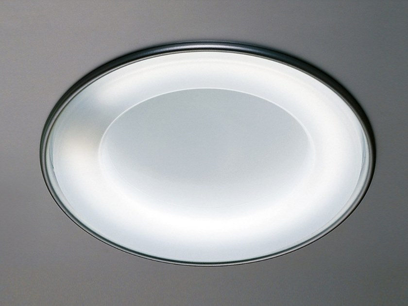 Recessed methacrylate ceiling lamp OBLÒ by Martinelli Luce