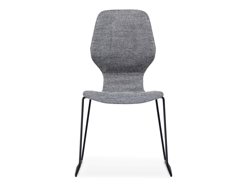 Sled base stackable fabric chair OBLIKANT | Fabric chair by prostoria