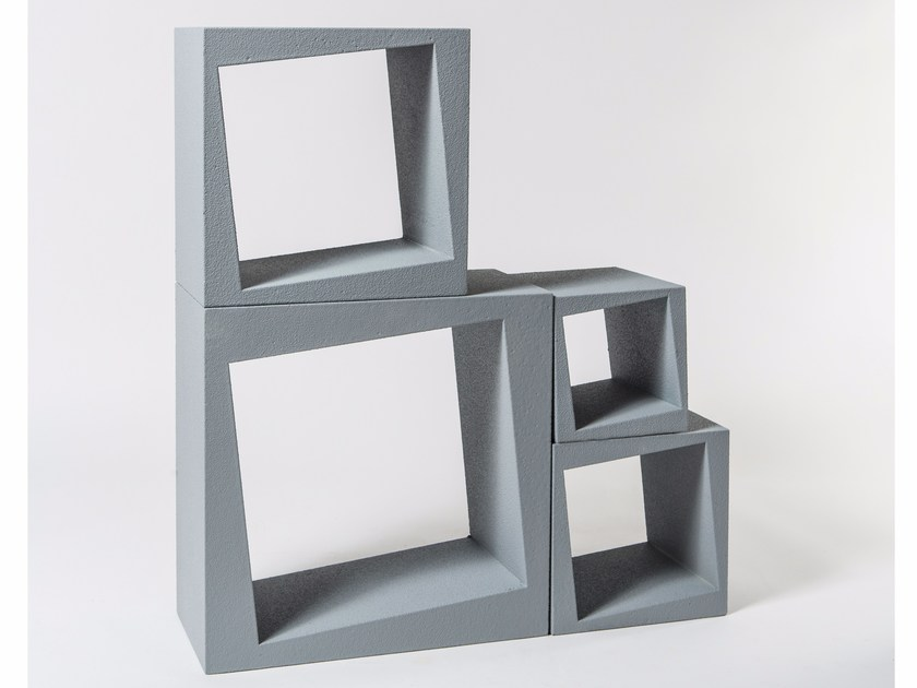 Sectional modular bookcase OBLIQUE by Be Different