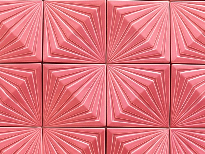 Indoor ceramic 3D Wall Tile OBLIQUE by Theia