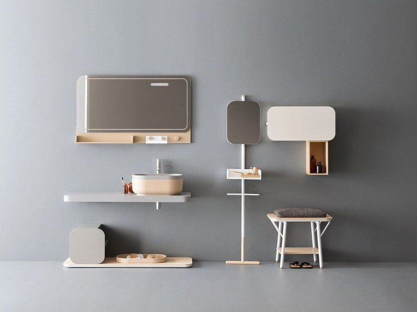 Bathroom furniture set OBLON - JAKU by NOVELLO