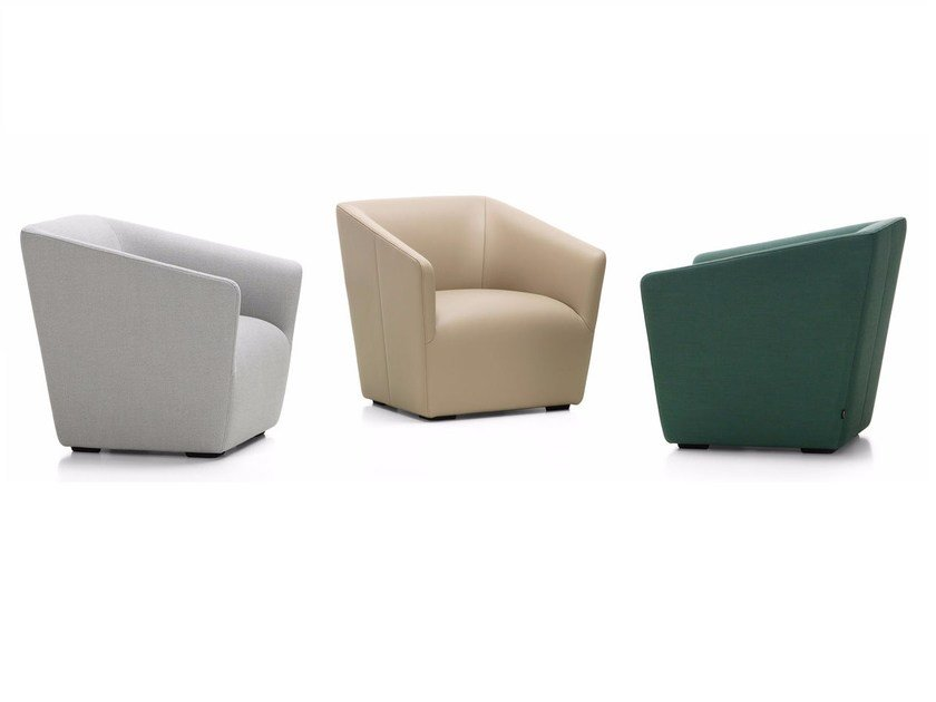Upholstered armchair OCCASIONAL LOUNGE CHAIR by Vitra
