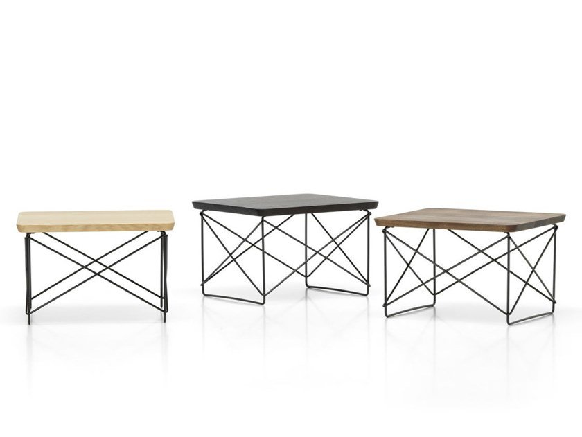 Rectangular coffee table with HPL top and steel base OCCASIONAL TABLE LTR | HPL coffee table by Vitra