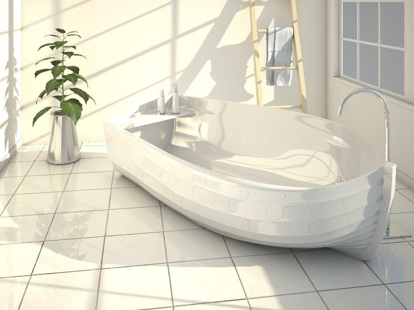 Vasca da bagno centro stanza in Adamantx® OCEAN by ZAD ITALY