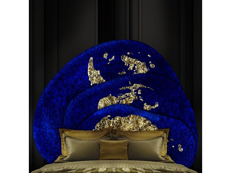 Decorated glass headboard / Decorative panel OCEANO by Unica by Tecnotelai
