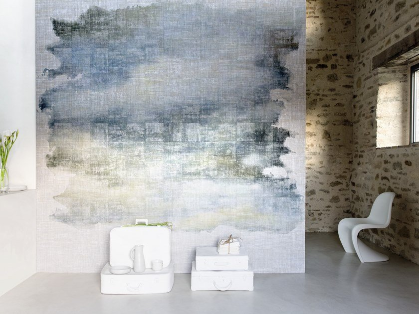 Carta da parati lavabile panoramica in vinile OCTOBRE by Élitis