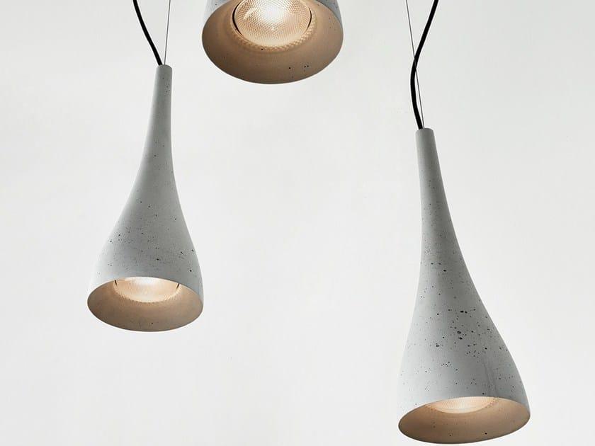 Concrete pendant lamp OCUN by Gravelli