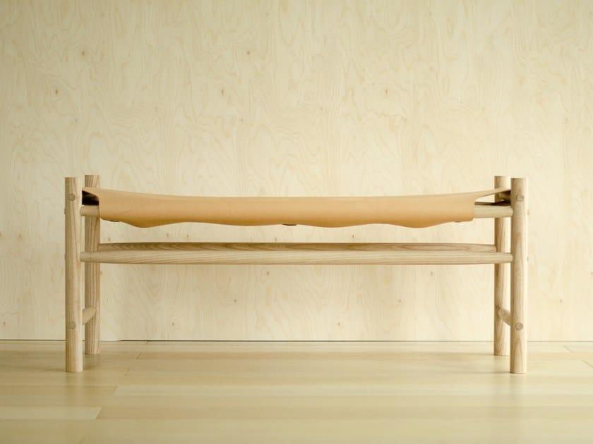 Tanned leather bench ODDA by Gedigo