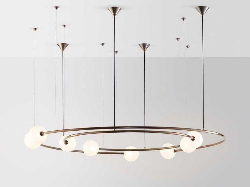 Pendant lamp ODDMENTS DUAL by Volker Haug Studio