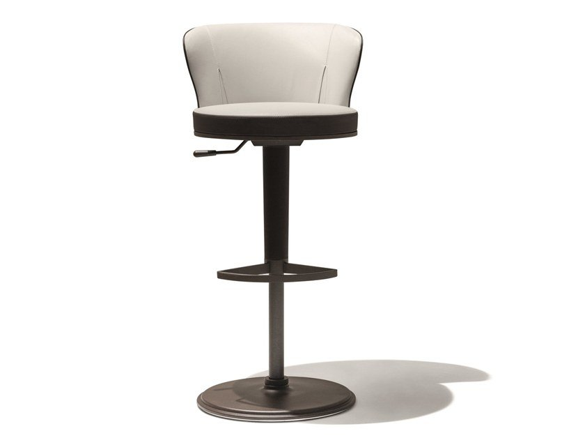 High height-adjustable stool ODE by GIORGETTI