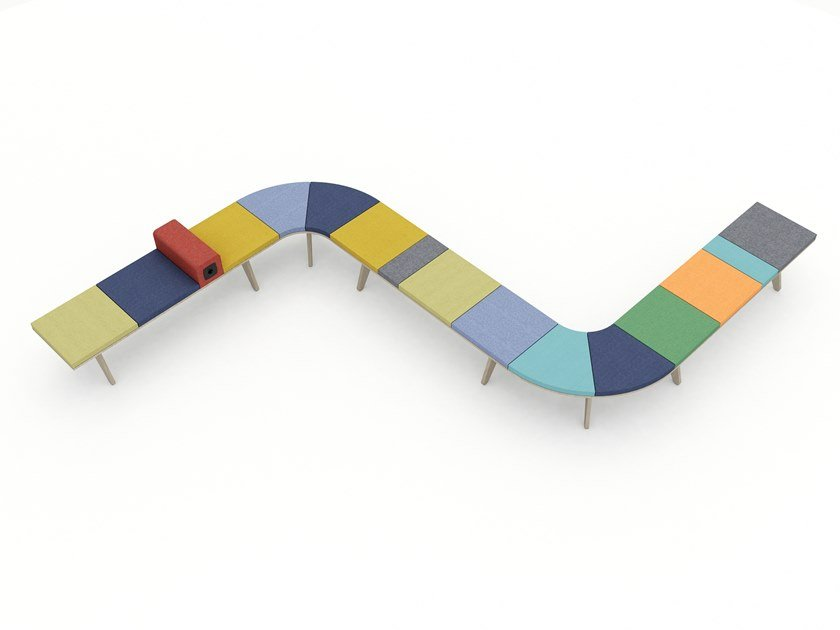 Backless fabric bench seating ODIN by Tuna Ofis