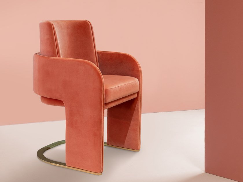 Cantilever chair with armrests ODISSEIA   Chair by DOOQ