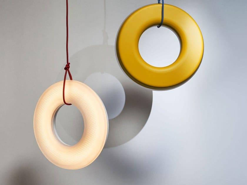 Lampada a sospensione a LED in vetro e alluminio ODO by Oikoi