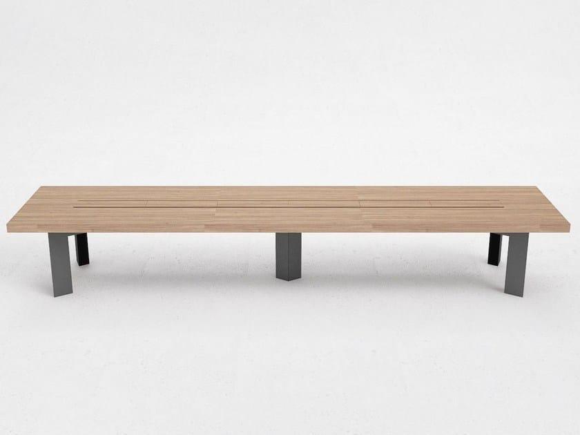 Wood veneer meeting table OE4 by ODESD2