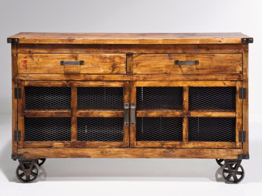 Wooden sideboard OFF-ROAD by KARE-DESIGN