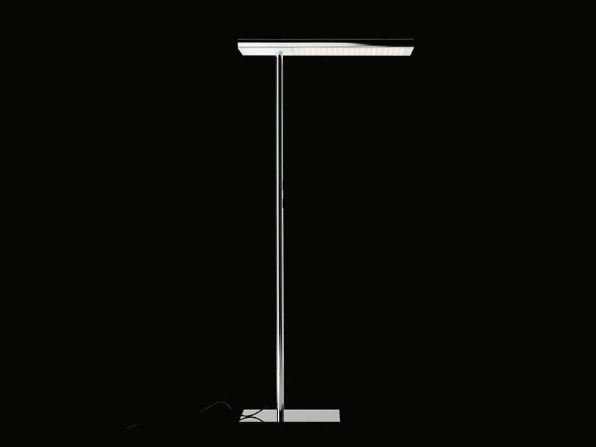 Lampada da terra a LED a luce diretta e indiretta in acciaio OFFICE AIR 2.0 | Lampada da terra by Nimbus