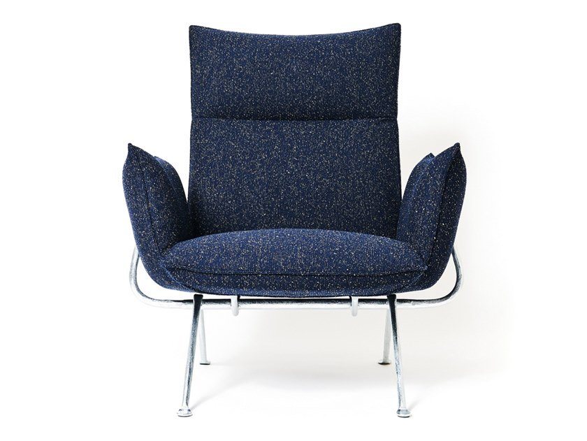 Fabric armchair with removable cover with armrests OFFICINA | Fabric armchair by Magis