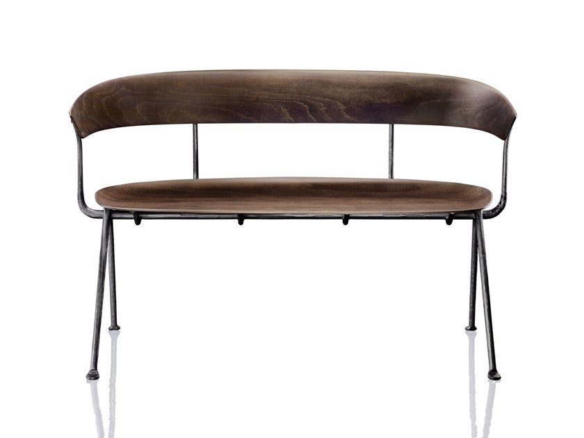 Multi-layer wood bench OFFICINA | Multi-layer wood bench by Magis