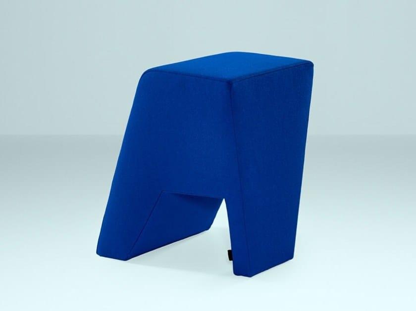 Sgabello da ufficio basso imbottito in tessuto offsize sgabello