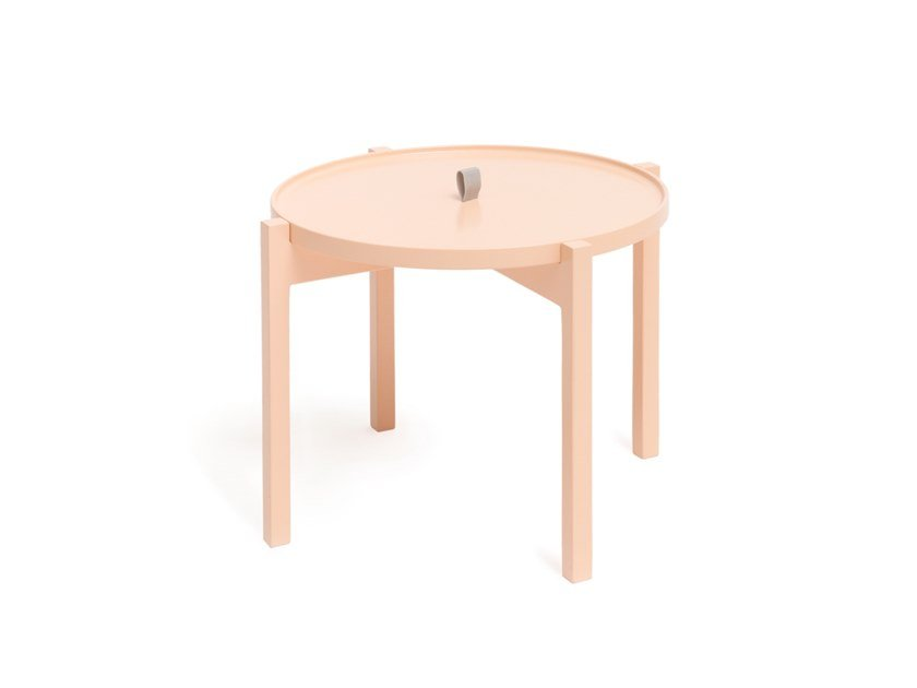 Round side table with tray OGIS PEACH by Aggy