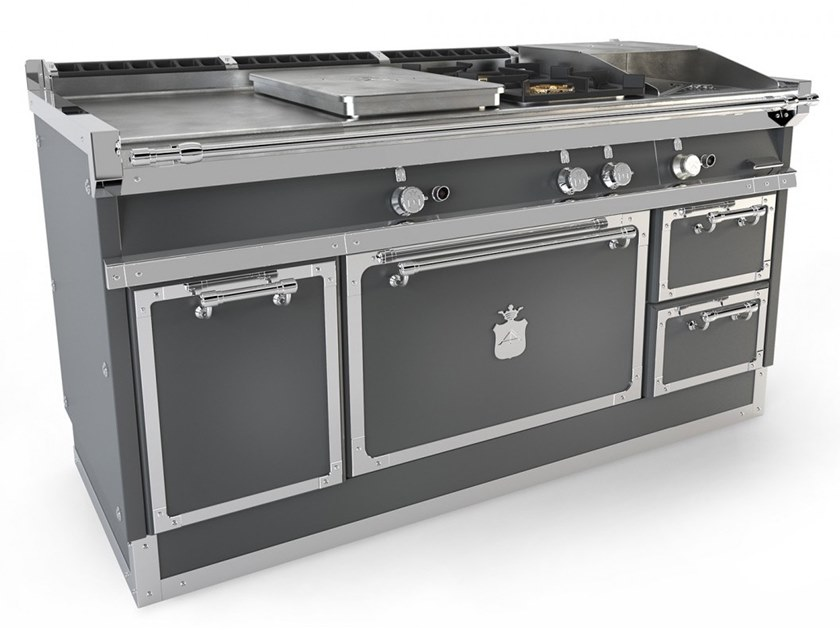 Cucina a libera installazione professionale in acciaio ...