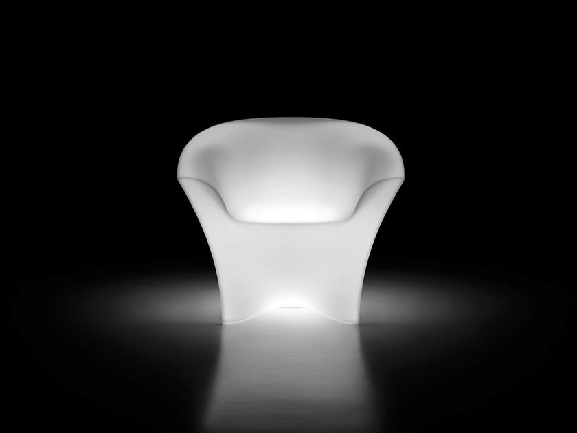 Polyethylene easy chair with light with armrests OHLA ARMCHAIR LIGHT by Plust