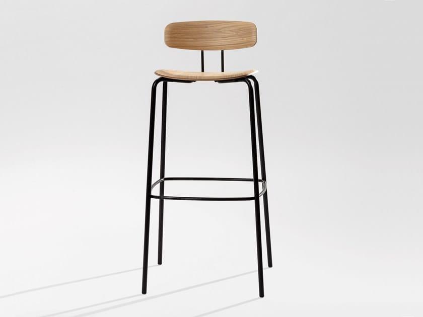 High plywood barstool OKITO PLY BAR by ZEITRAUM