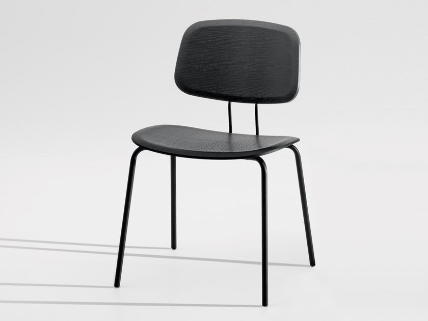 Stackable plywood chair OKITO PLY DINING by ZEITRAUM