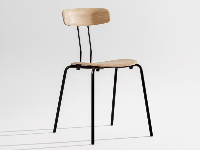 Stackable plywood chair OKITO PLY by ZEITRAUM