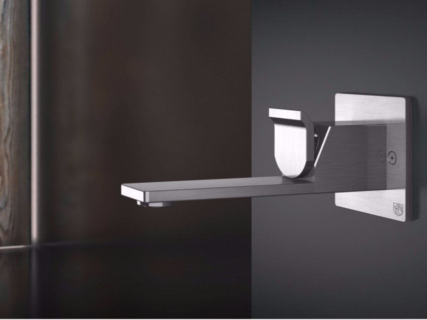 Wall-mounted single handle stainless steel washbasin mixer OKM18 | Washbasin mixer by Radomonte
