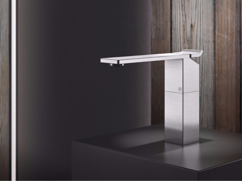 Countertop single handle stainless steel washbasin mixer OKM2 | Washbasin mixer by Radomonte