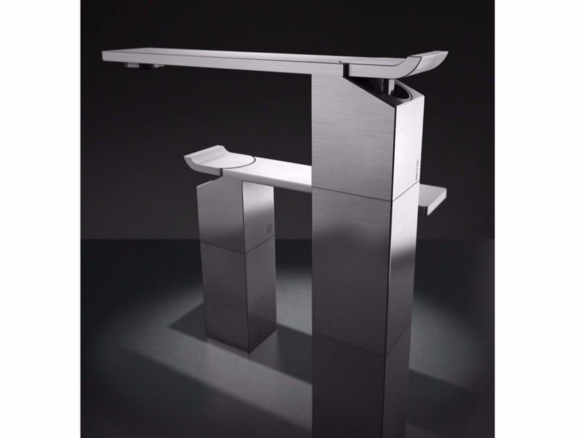 Countertop single handle stainless steel washbasin mixer OKM3 | Washbasin mixer by Radomonte