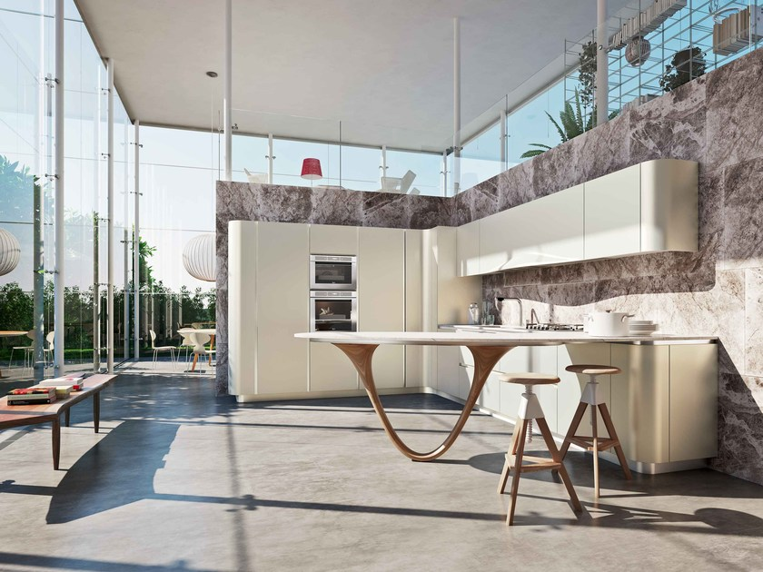 Fitted kitchen with peninsula OLA 20 | Kitchen with peninsula by Snaidero