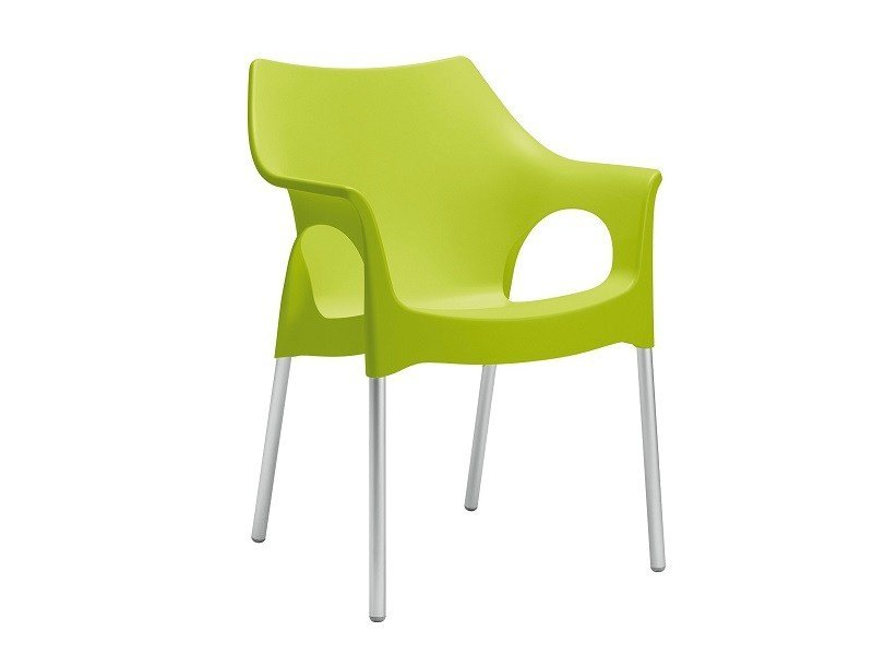Sedia ergonomica impilabile in tecnopolimero con braccioli OLA | Sedia in tecnopolimero by SCAB DESIGN