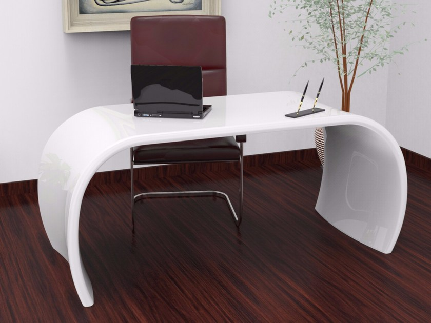 Lacquered Adamantx® office desk OLA by ZAD ITALY