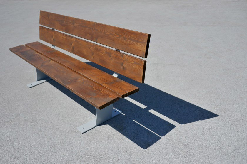 Steel Bench with back OLANDESINA | Bench by LAB23 Gibillero Design