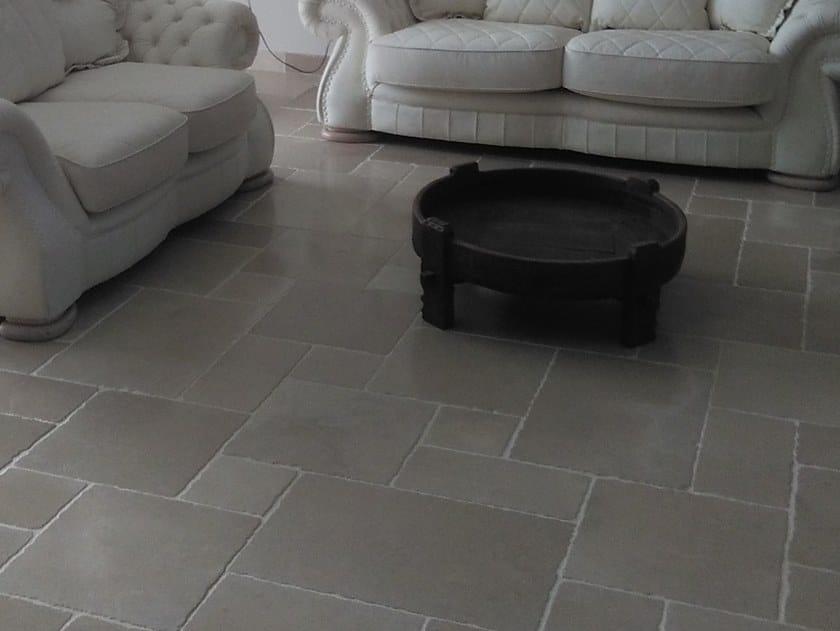 Indoor/outdoor natural stone flooring OLD APULIA ANTIQUE SATIN by Naturalmente Puglia