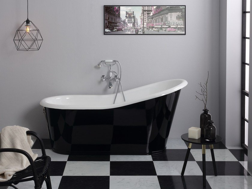 Cast iron bathtub OLD LAVANDE By BLEU PROVENCE