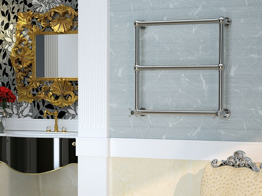 Scaldasalviette in ottone a parete OLGA by SCIROCCO H