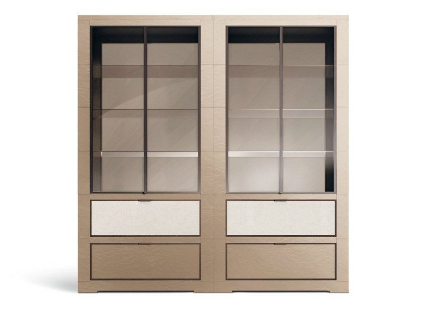 Freestanding sectional wooden bookcase OLI | Bookcase by GIORGETTI