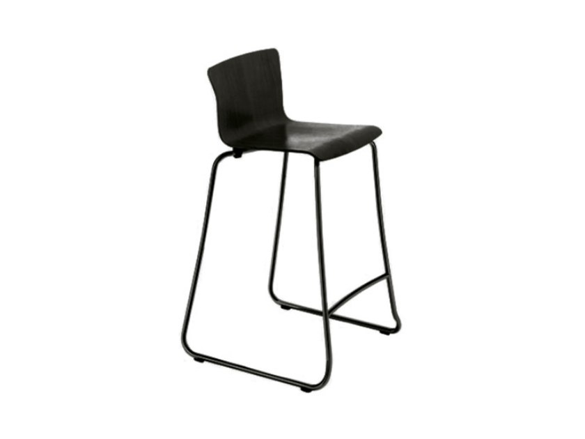 Sled base stackable counter stool OLIMPIA by DE PADOVA
