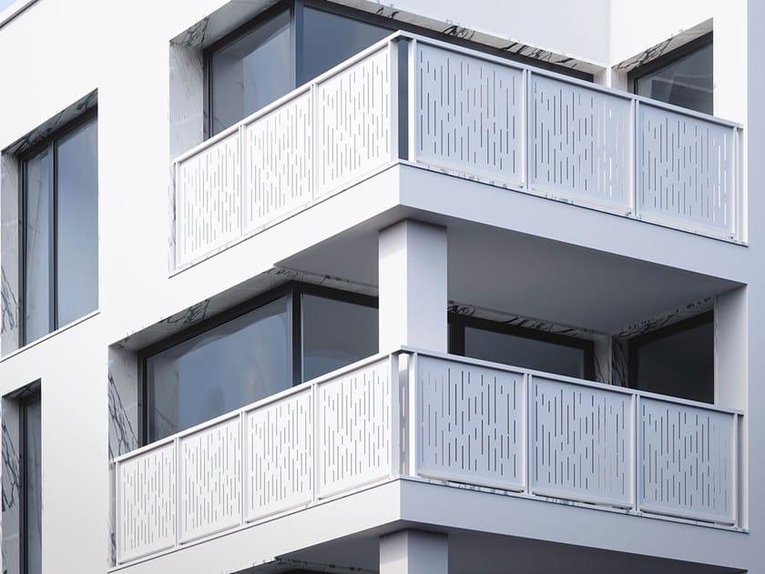 Parapetto in alluminio con pannelli in lamiera microforata OLIMPIA LAMIERA by FARAONE